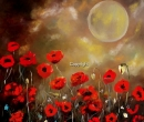 Moon and Poppies  Limited Print